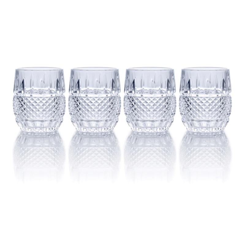 Mikasa Delano Double Old Fashioned Glass Set of 4