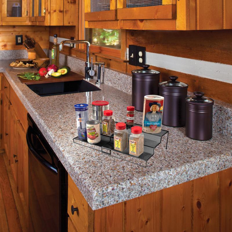 Mind Reader 3-Tier Metal Mesh Multi-Purpose Kitchen Organizer, Silver