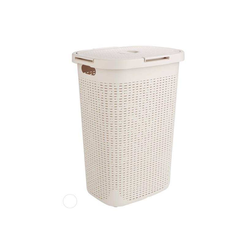 Mind Reader 60-Liter Laundry Basket with Cutout Handles