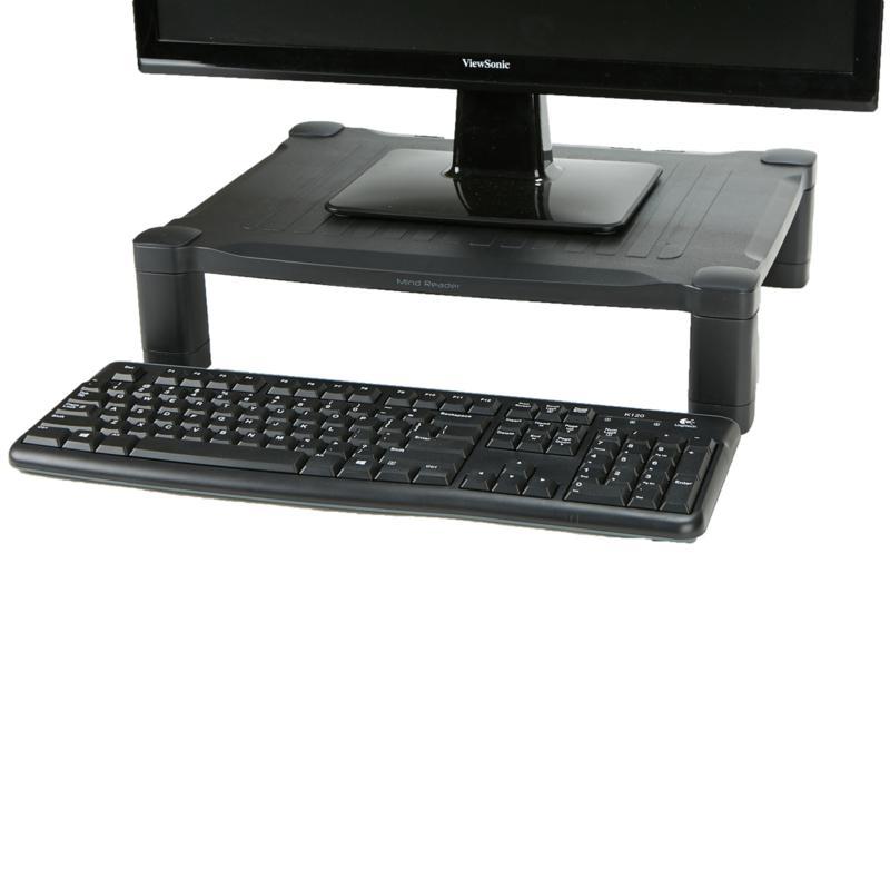 Mind Reader 'Guide ' Adjustable Plastic Monitor/Laptop Stand - Black