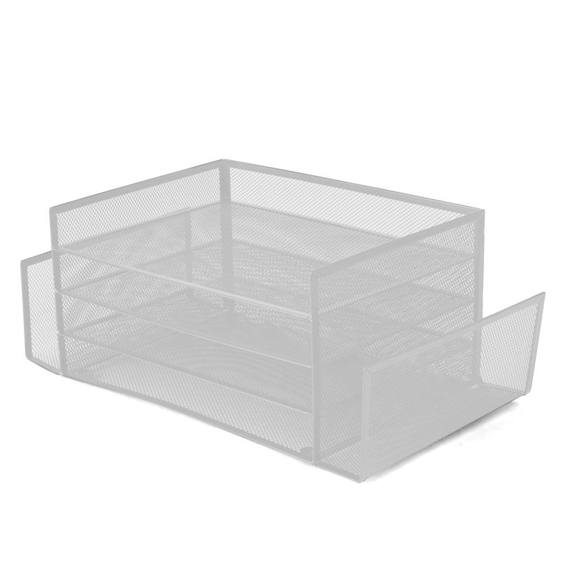 Mind Reader Metal Mesh 4-Section 2-Side Desk Organizer