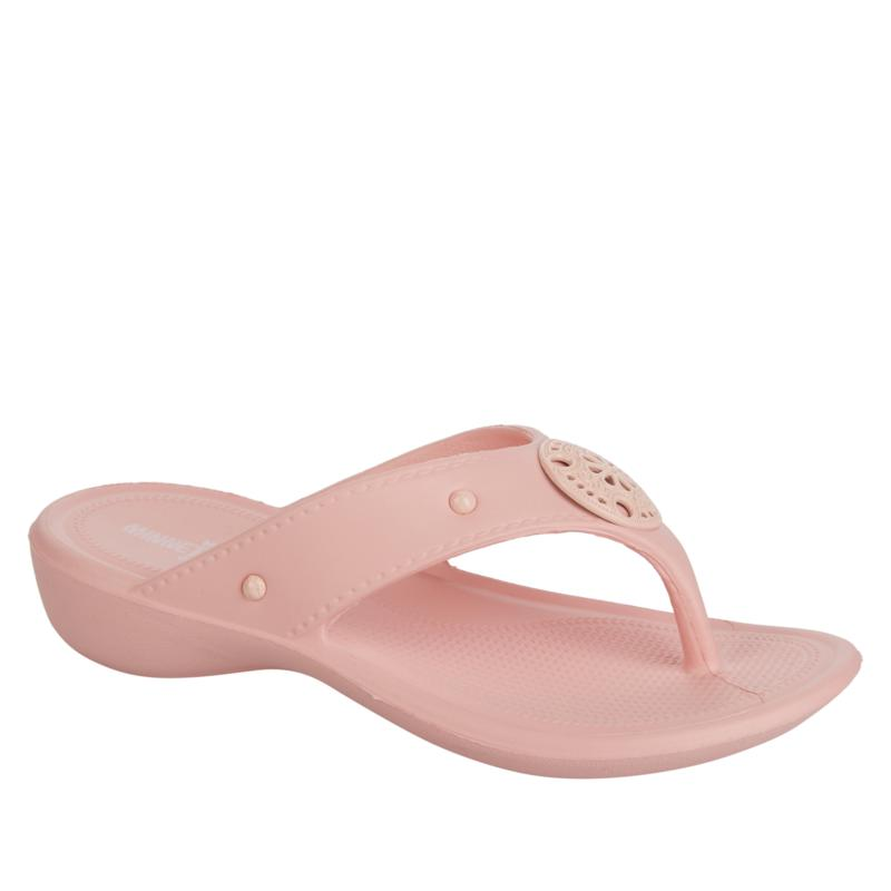Minnetonka Painted Poppy Thong Sandal