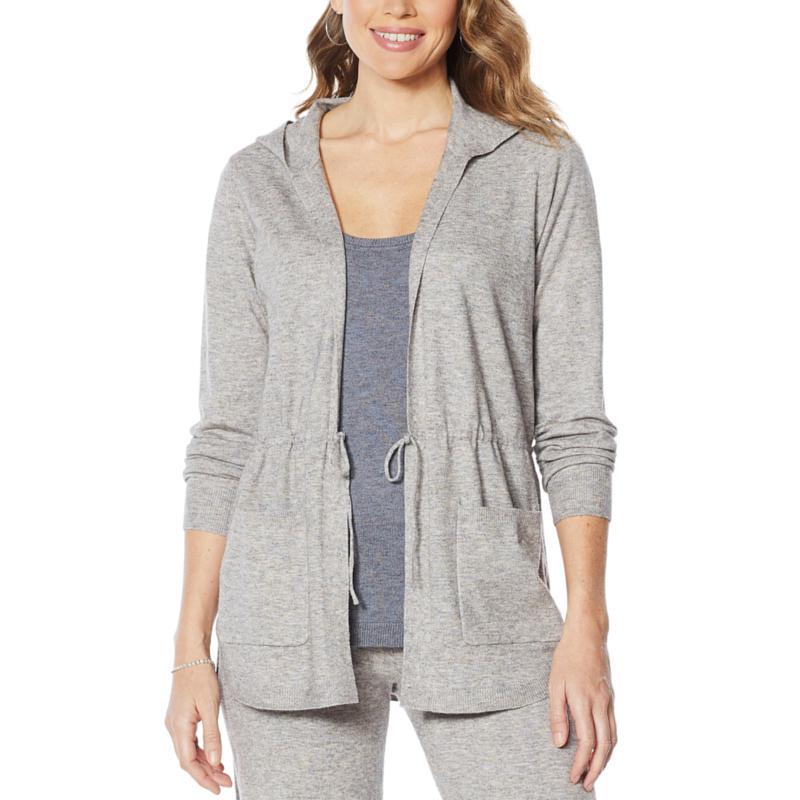 ModernSoul® Spacedye Tie-Front Sweater Cardigan
