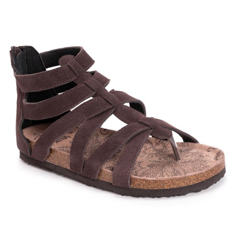 MUK LUKS Kinley Suede Toe-Post Gladiator Sandal