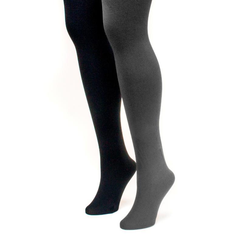 MUK LUKS Women's 2-pack Fleece-Lined Tights