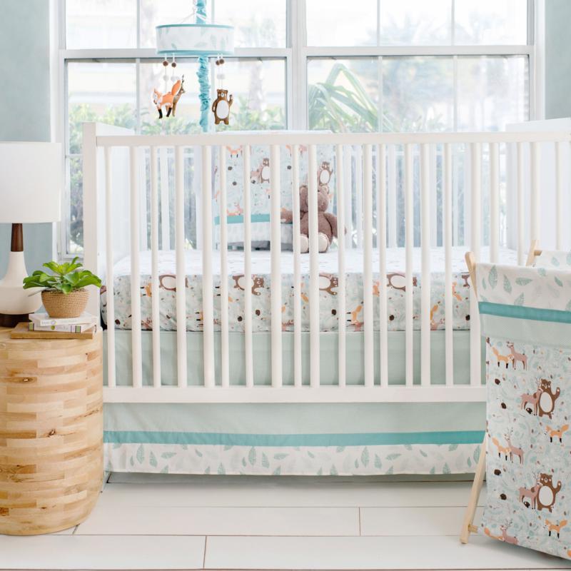 My Baby Sam Forest Friends 3-piece Crib Bedding Set
