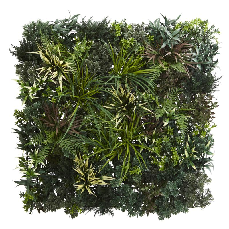 Nearly Natural Greens and Fern Artificial Living Wall Indoor/Outdoor