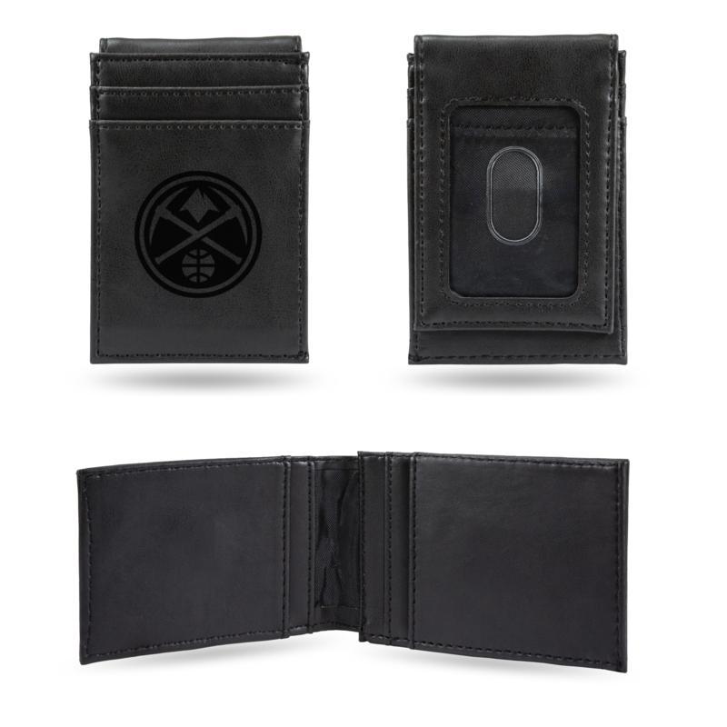 Nuggets Laser-Engraved Front Pocket Wallet - Black
