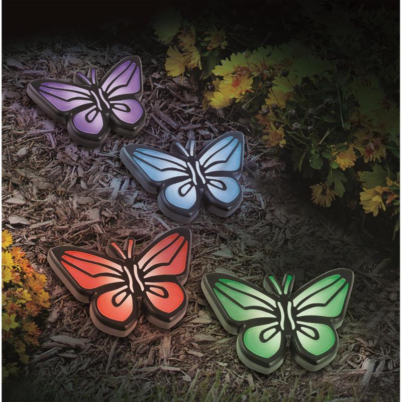 Odash Solar Butterfly Lights - Set of 4