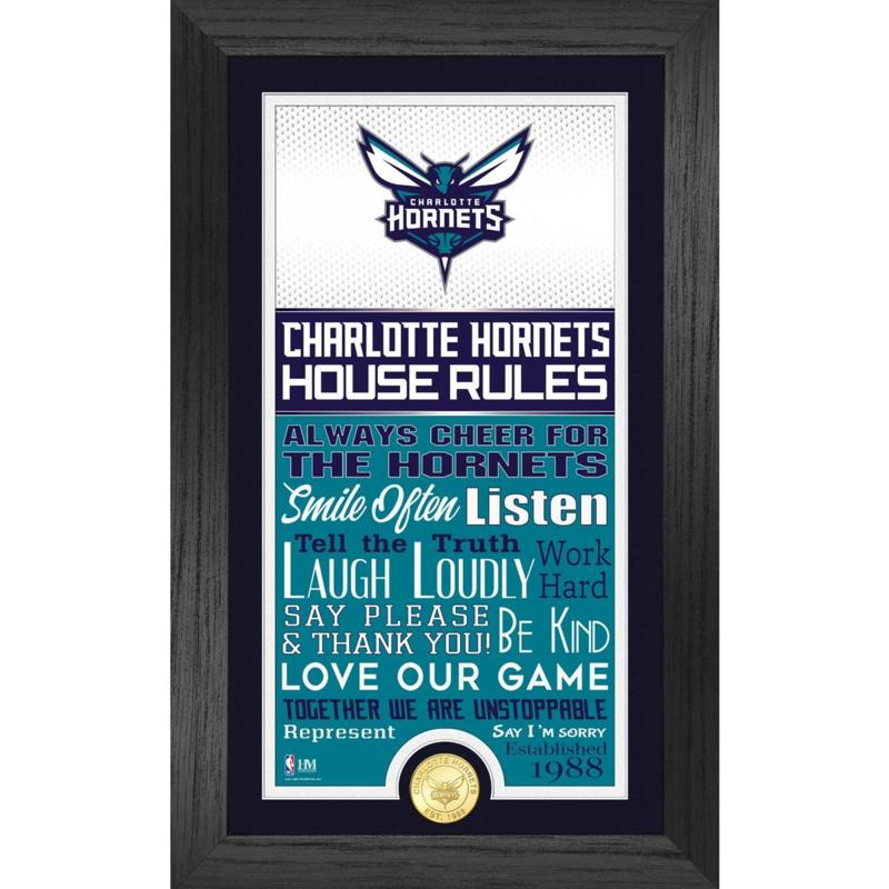 Officially Licensed Charlotte Hornets House Rules Coin Photo Mint