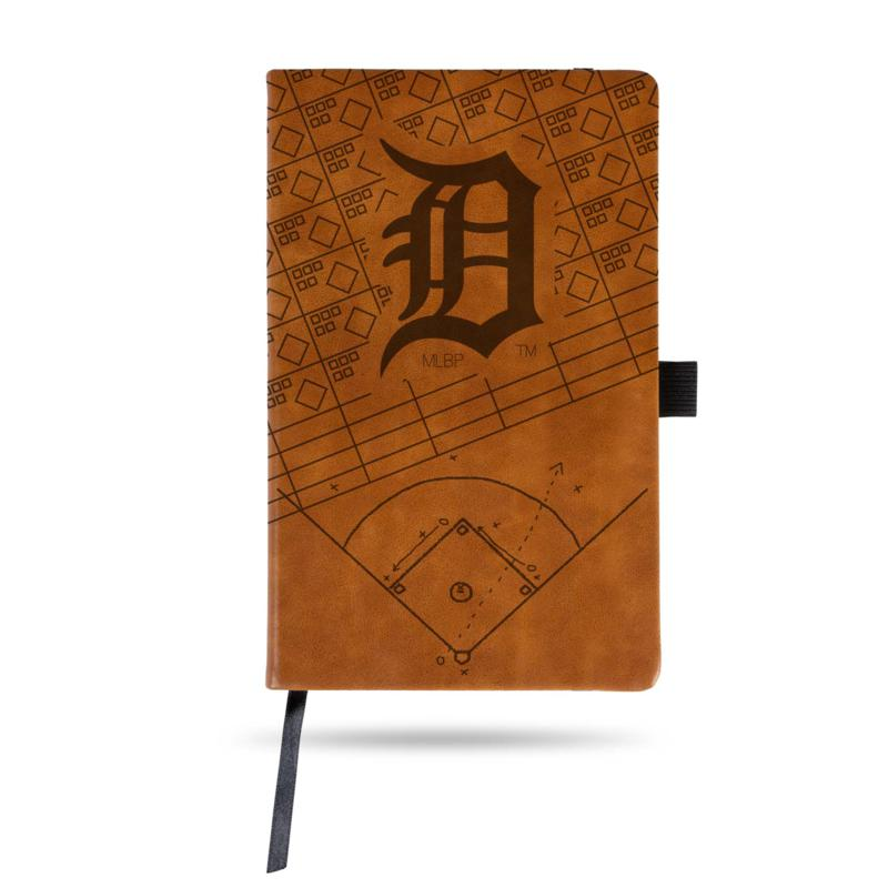 Officially Licensed MLB Brown Notepad - Detroit Tigers