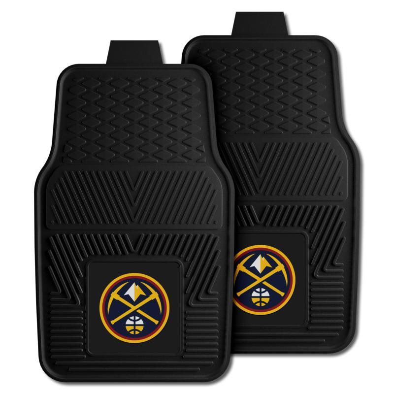 "Officially Licensed NBA 2pc Car Mat Set 17"" x 27"" - Denver Nuggets"