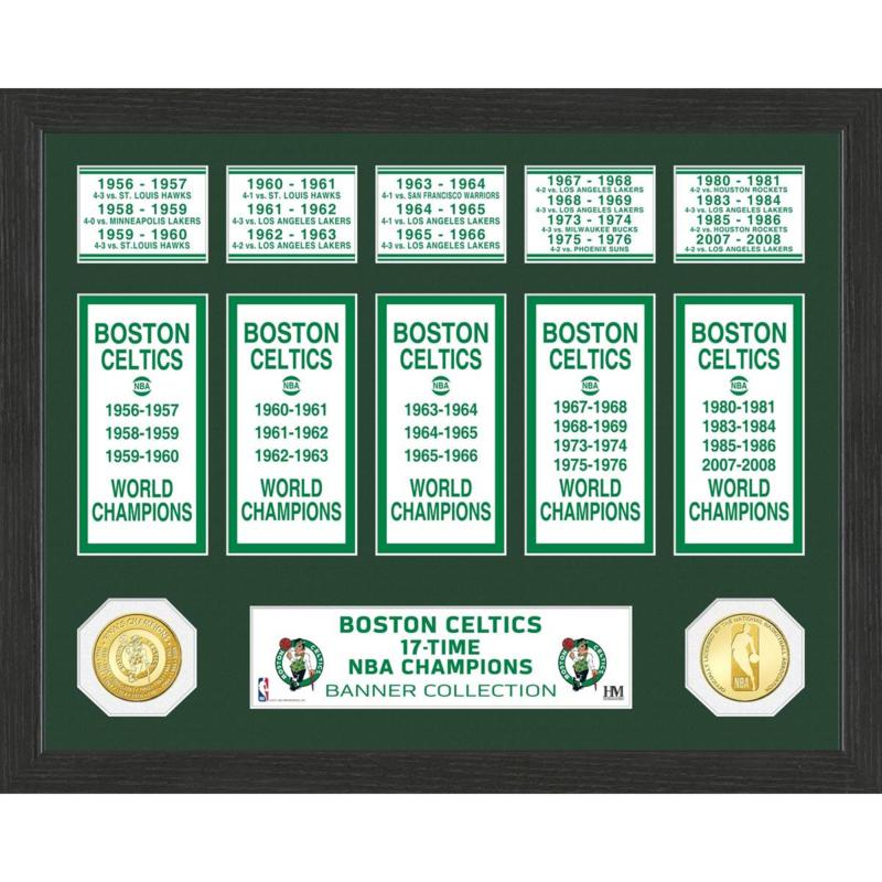 Officially Licensed NBA Boston Celtics Banner Bronze Coin Photo Mint
