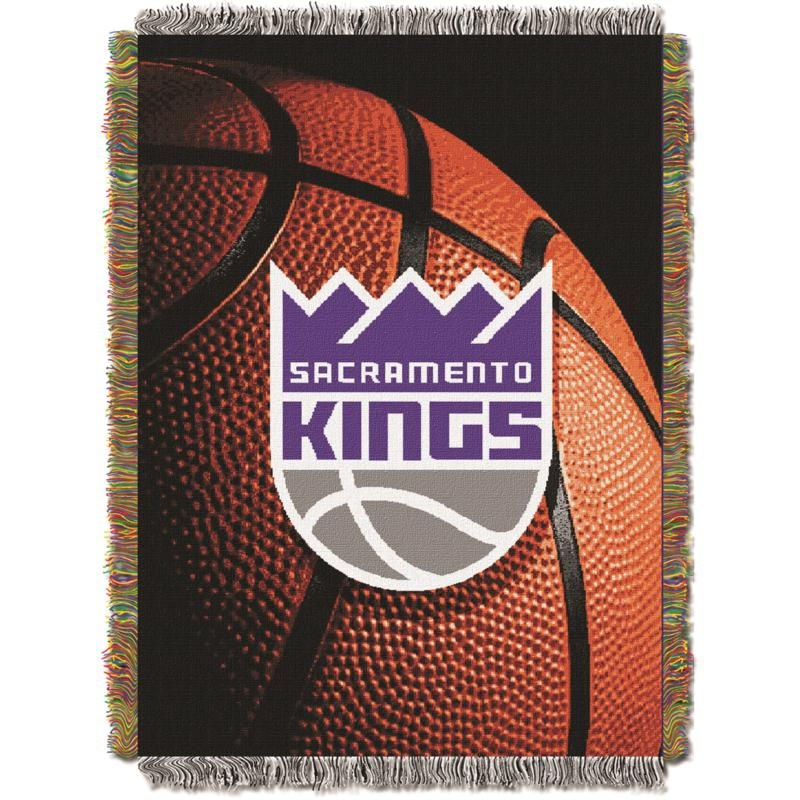 """Officially Licensed NBA """"Photo Real"""" Woven Tapestry Throw - Kings"""