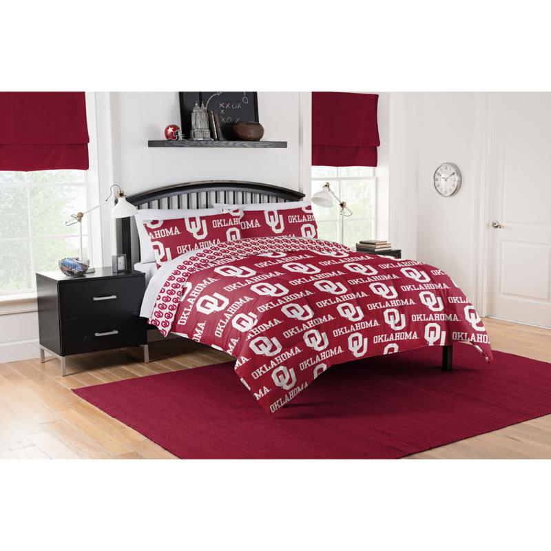 Officially Licensed NCAA Full Bed in a Bag Set - Oklahoma Sooners