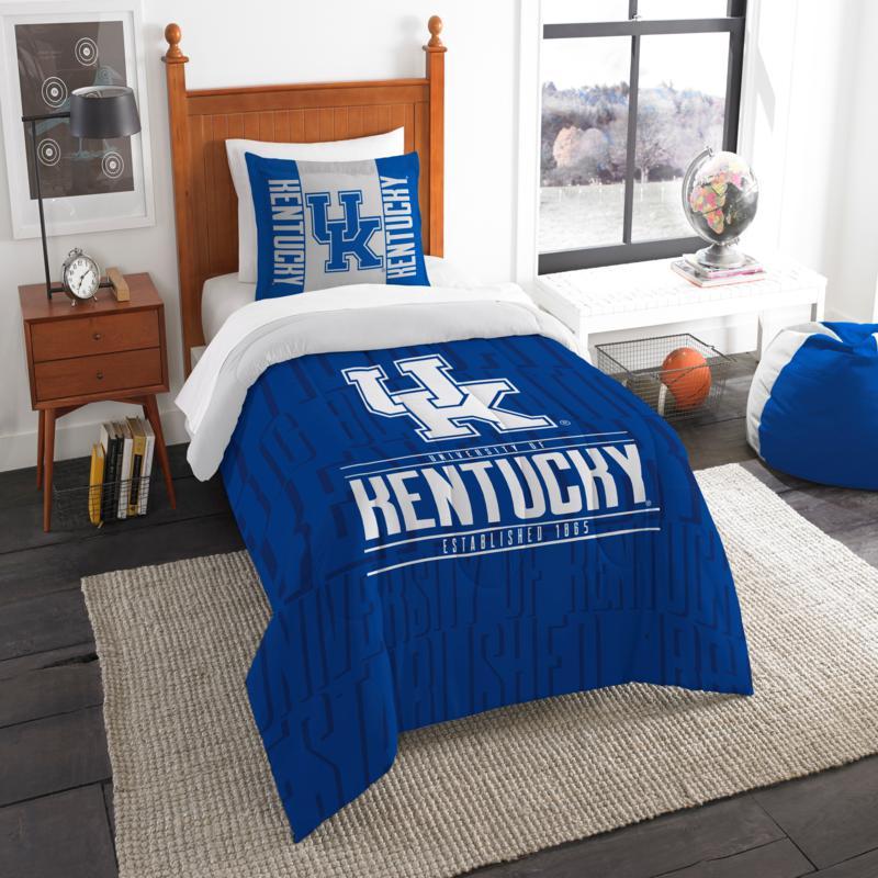 Officially Licensed NCAA Modern Take Twin Comforter Set - Kentucky