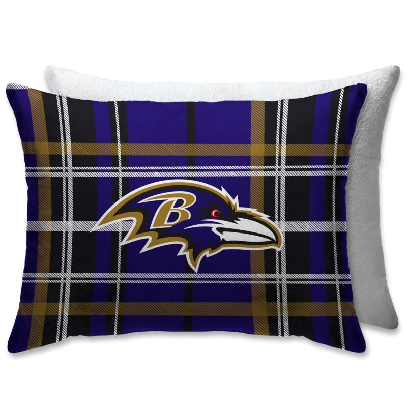 """Officially Licensed NFL 20"""" x 26"""" Plush Bed Pillow - Baltimore Ravens"""