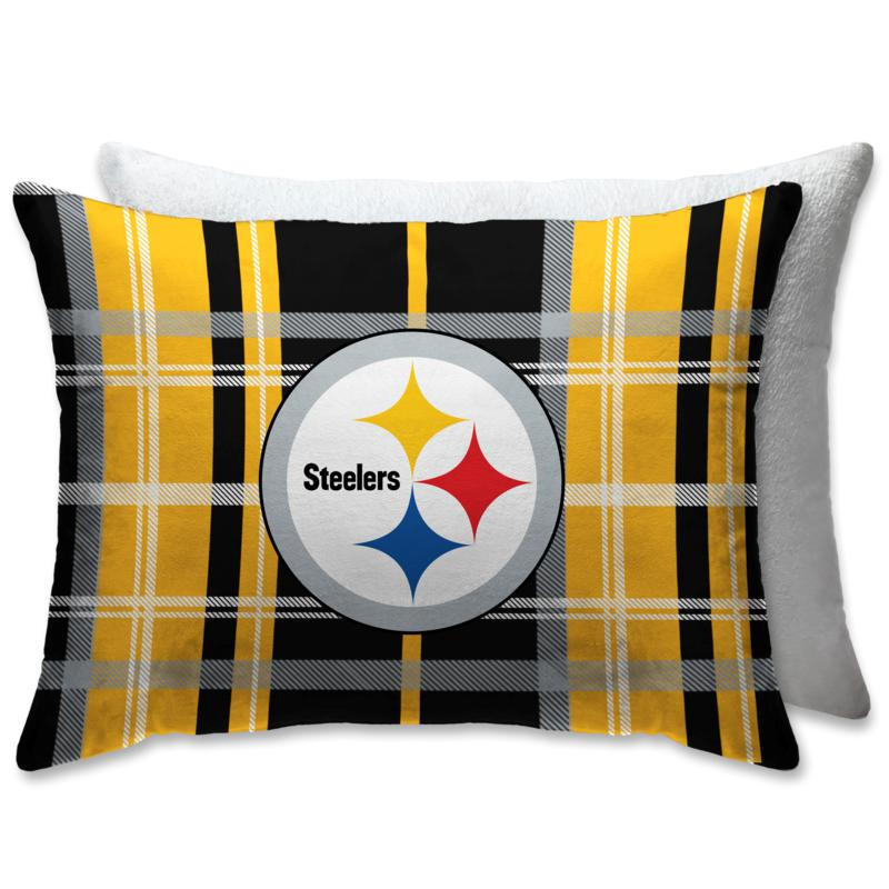 """Officially Licensed NFL 20"""" x 26"""" Plush Bed Pillow-Pittsburgh Steelers"""
