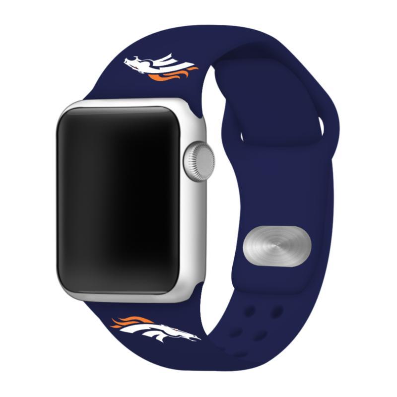 Officially Licensed NFL 42/44mm Apple Watch Med. Sport Band - Broncos