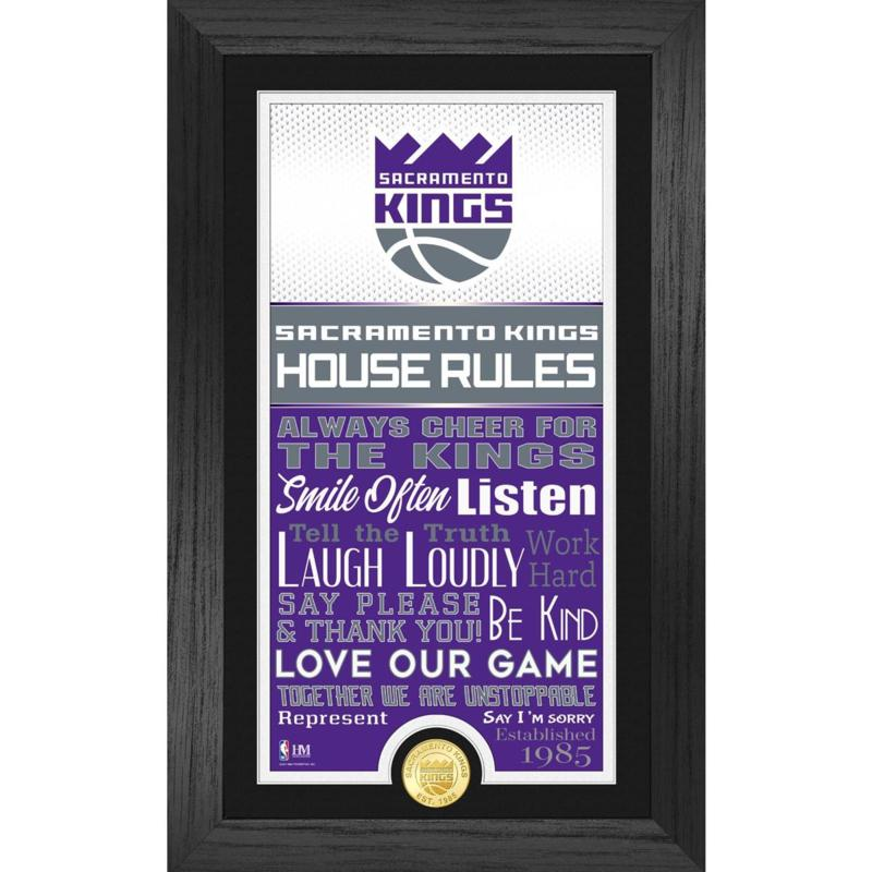 Officially Licensed Sacramento Kings House Rules Coin Photo Mint