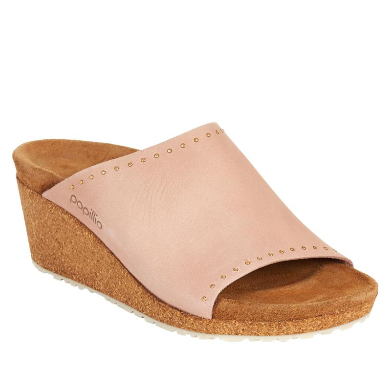 Papillio by Birkenstock Namica Rivets Leather Wedge Sandal