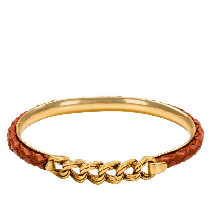 Patricia Nash Leonora Leather Chain Bangle Bracelet