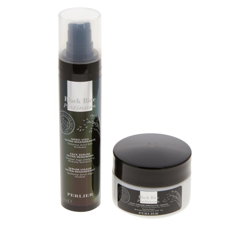 Perlier Black Rice Serum and Day Cream Set