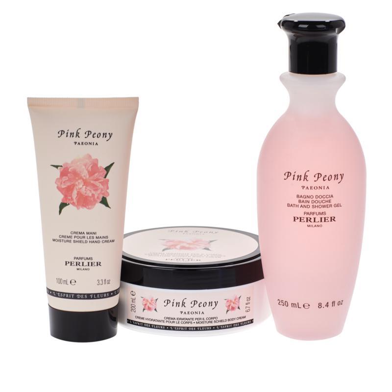 Perlier Pink Peony 3-piece Set