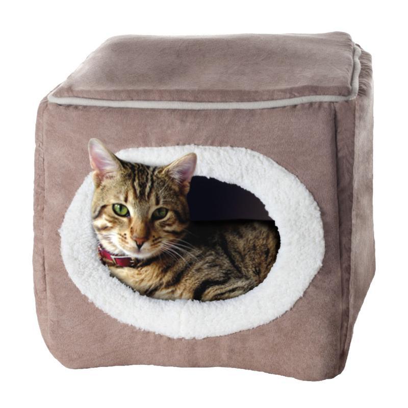 PETMAKER Cozy Cave Enclosed Cube Pet Bed