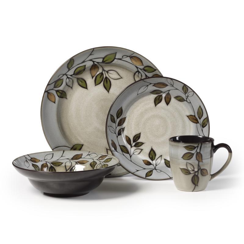 Pfaltzgraff 16-piece Rustic Leaves Dinnerware Set
