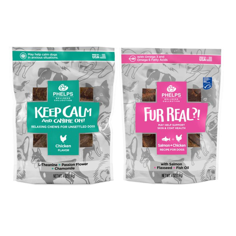 Phelps Wellness Collection  Keep Calm & Canine On and Fur Real Skin...