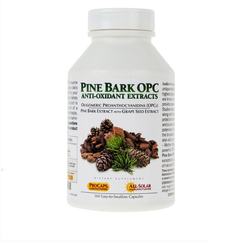 Pine Bark OPC Anti-Oxidants - 360 Capsules