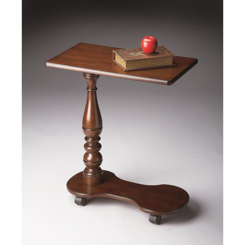 Plantation Cherry Mobile Tray Table with Casters