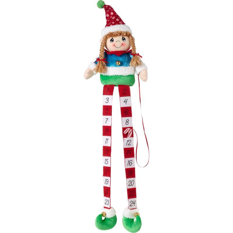 Precious Moments Elf Christmas Countdown Calendar Shelf Sitter
