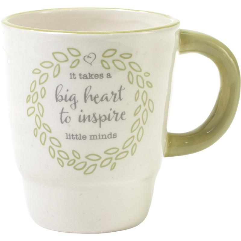 Precious Moments It Takes A Big Heart To Inspire Minds Teacher Mug