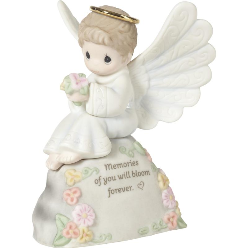 Precious Moments Memories Of You Will Bloom Forever Porcelain Figurine