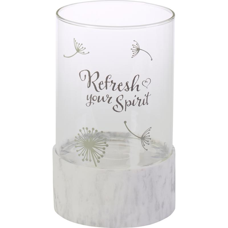 Precious Moments Refresh Your Spirit Hurricane Candle Holder