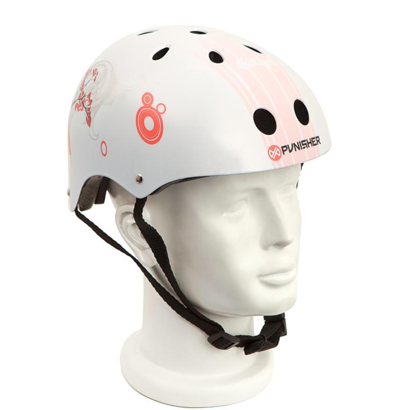 Punisher Medium Skateboard Helmet - Cherry Blossom
