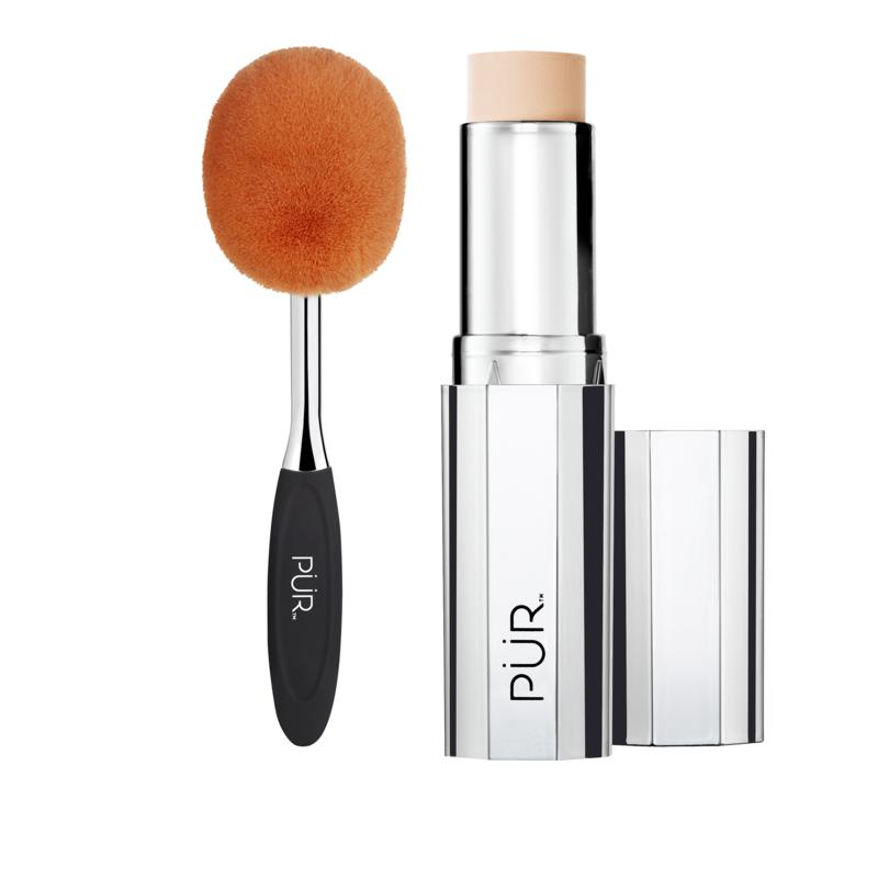 PUR 4-in-1 Porcelain Foundation Stick with Brush