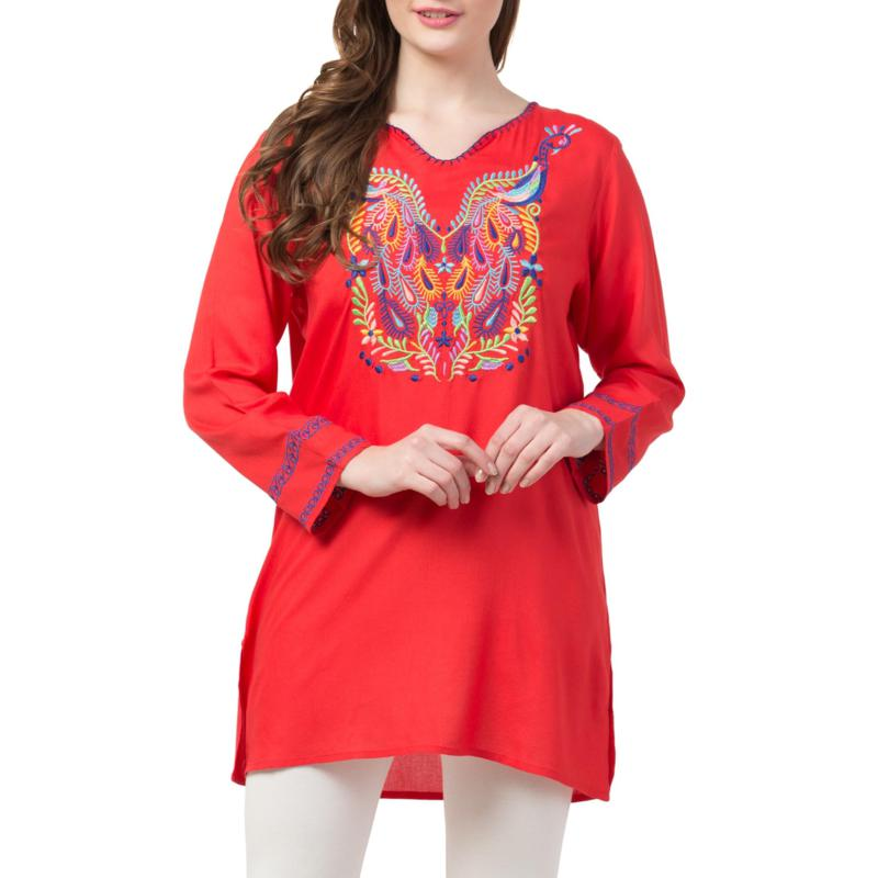Raj Esha Embroidered Tunic