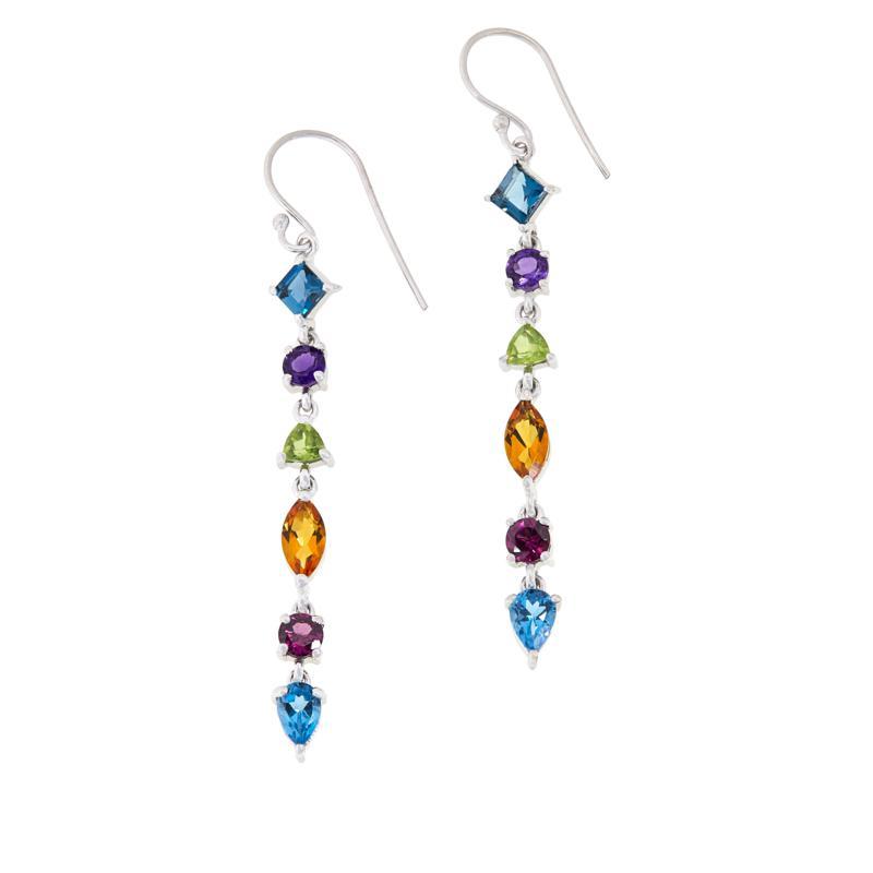 "Robert Manse ""Gem RoManse"" Sterling Silver Multi-Gemstone Earrings"
