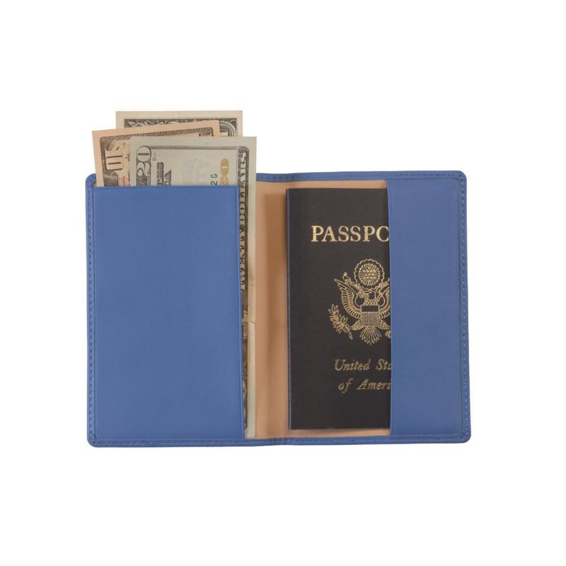 Royce Leather RFID Plain Passport Jacket with US Seal