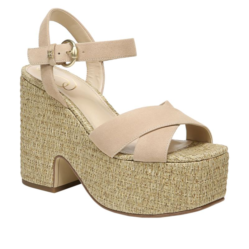 Sam Edelman Triana Leather Espadrille Wedge Sandal