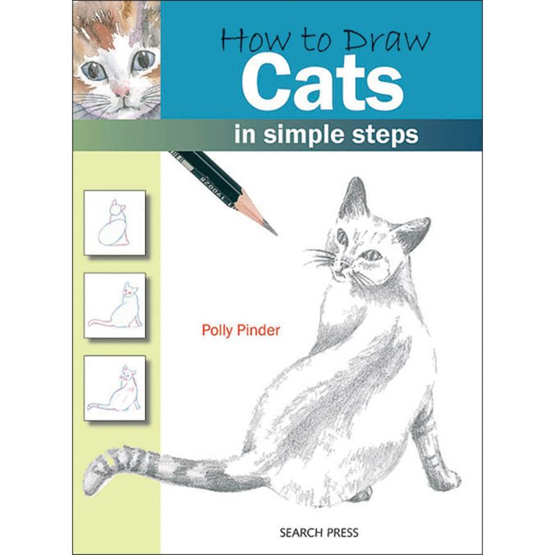 """Search Press Books """"How To Draw: Cats"""" by Polly Pinder"""