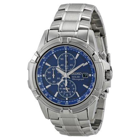 Seiko Men's Stainless Steel Blue Dial Chronograph Watch