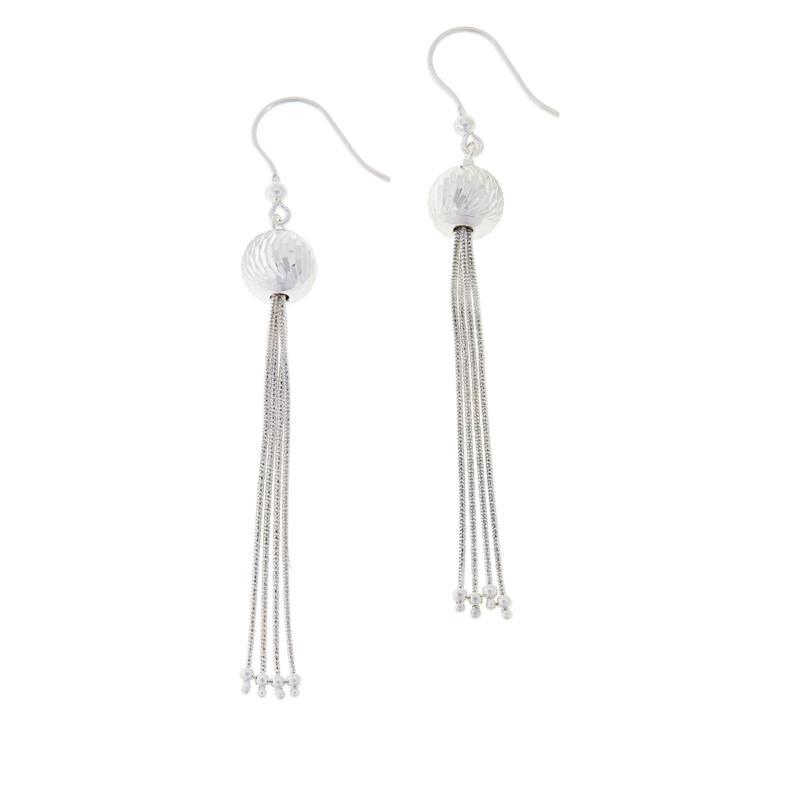 Sevilla Silver™ Diamond-Cut Bead Dangle Earrings