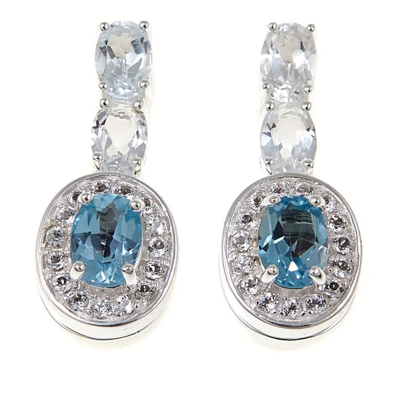 Sevilla Silver™ Interchangeable Gemstone Drop Earrings