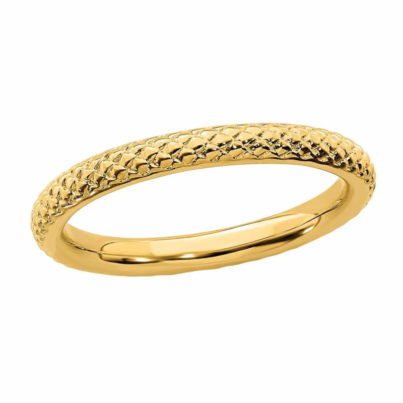 Simply Stacks™ Sterling Silver Cable Stackable Band Ring