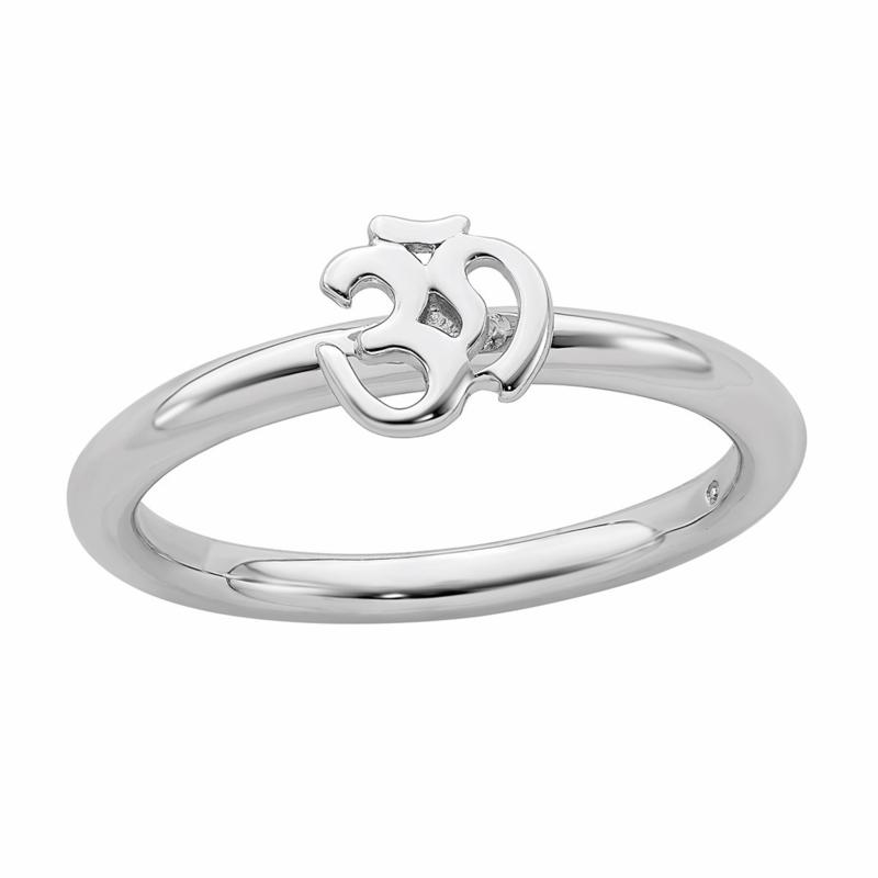 Simply Stacks™ Sterling Silver Ohm Ring