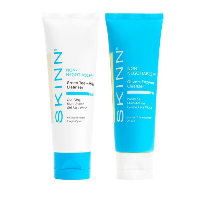 Skinn® Cosmetics Non-Negotiables AM & PM Cleanser 2-piece Set